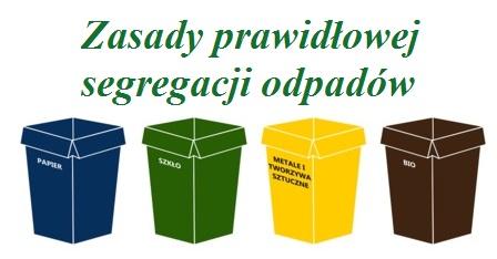Zasady Prawidłowej segregacji odpadów